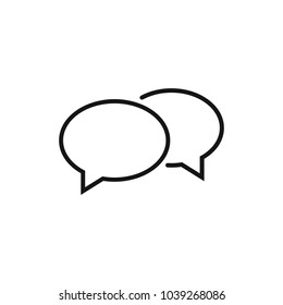 Chat icon. Voice speech bubble vector icon. Messages icon. Communicate symbol. Dialogue of people