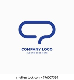 Chat Logo Design Template