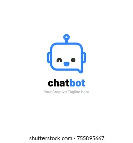 Chat Logo with Robot Face