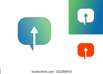 Up Chat Logo Template Design Vector, Emblem, Design Concept, Creative Symbol, Icon