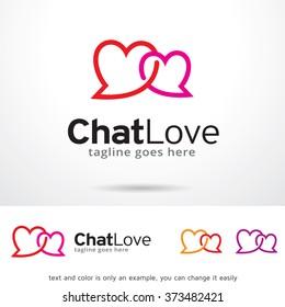 Chat Love Logo Design Template