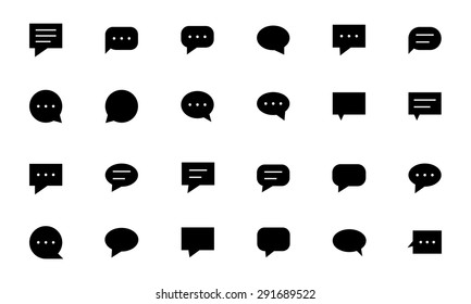 Chat Massages Vector Icons 1