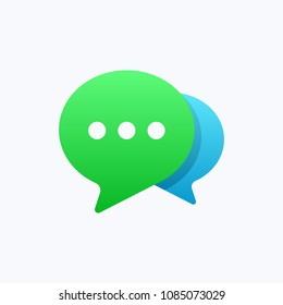 Chat Message Bubbles Vector Icon