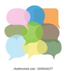 Chat message set. Speach bubbles collection. Vector illustration