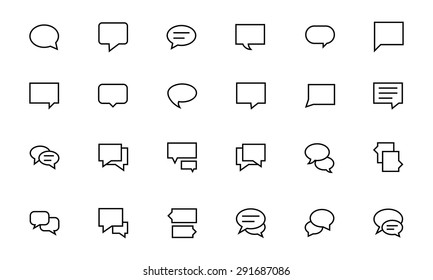 Chat Messages Line Vector Icons