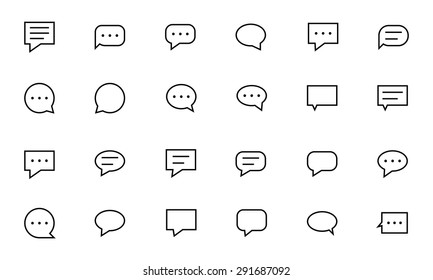 Chat Messages Line Vector Icons 1