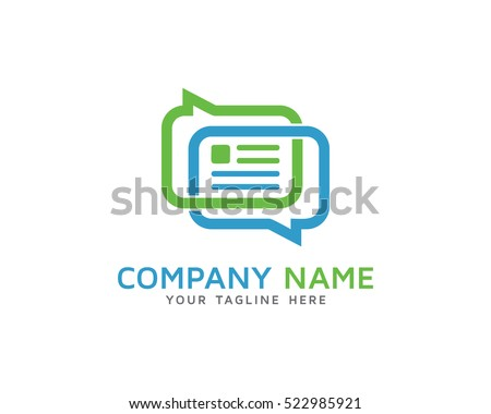 Chat News Logo Design Template Stock Vector (Royalty Free) 522985921 ...