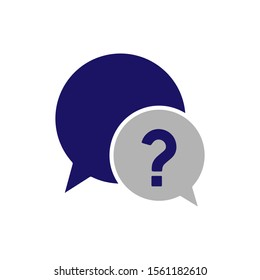 Chat, question icon. One of set web icons