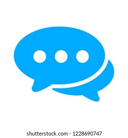 Chat sign icon. Speech bubbles symbol. Communication chat button. speech bubble icon - communication symbol