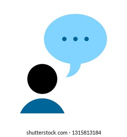 Chat sign icon. Speech bubbles symbol. Communication chat button. speech bubble icon - communication symbol