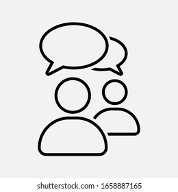 Chat, speak sign, talk icon Communication concept