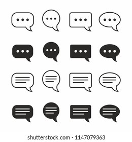 Chat and Speech Bubble Iicon Set. Vector