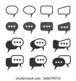 Chat and Speech Bubble Iicons Set