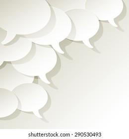 chat speech bubbles ellipse vector white in the corner