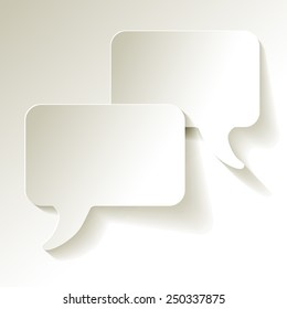 chat speech bubbles vector white
