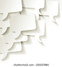 chat speech bubbles vector white background