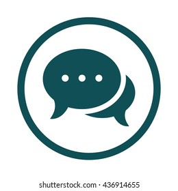 Chat / speech icon / circle / button / vector illustration
