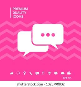 Chat symbol icon