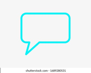 Chat, talk icon vector illustration EPS10. Communication concept