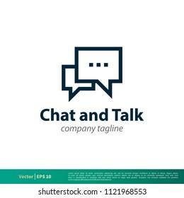 discussion split logo colored chat symbol のベクター画像素材