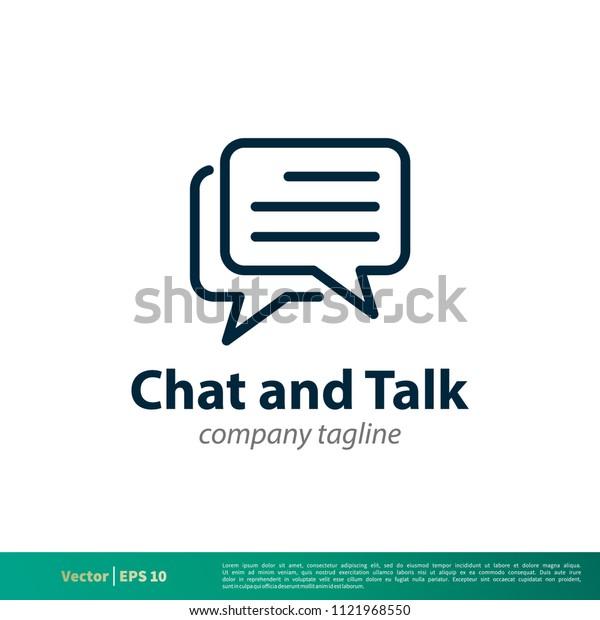 Chat, Talk, Speech Bubble Icon Vector Logo Template Illustration Design. Vector EPS 10.