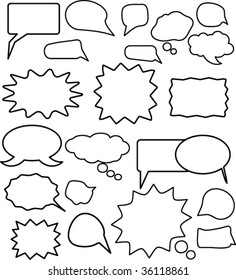 chat and thought clouds. vector