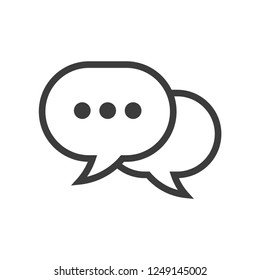 Chat vector icon, dialog symbol