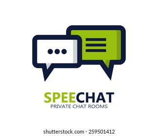 Chat vector symbol icon or logo