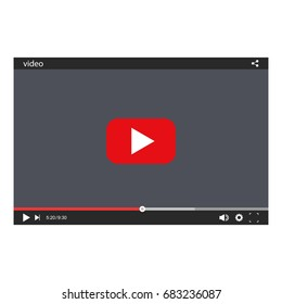 Chat video frame. Video player for web and mobile apps.Vector illustration.