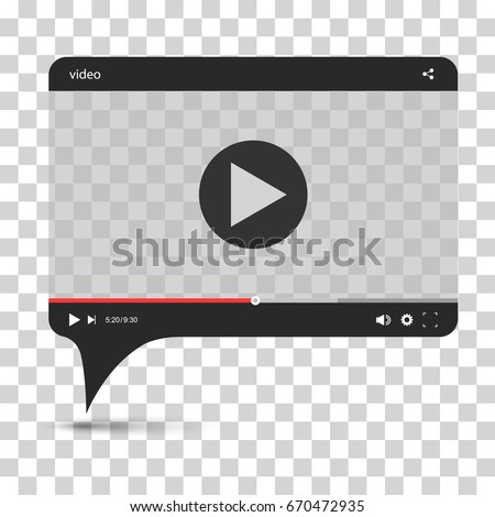 Chat Video Frame Video Player Web Stock Vector (Royalty Free ...