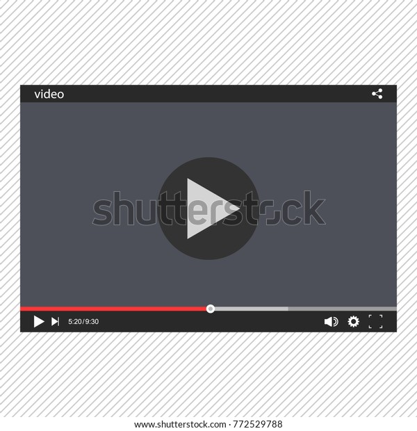 Chat video frame. Video player for web and mobile apps. Vector illustration.