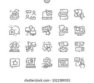 Chat Well-crafted Pixel Perfect Vector Thin Line Icons 30 2x Grid for Web Graphics and Apps. Simple Minimal Pictogram