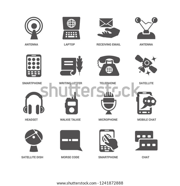 Chat Writing Letter Antenna Laptop Mobile Stock Vector