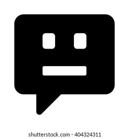 Chatbot / chat bot or chatterbot flat vector icon for message apps and websites