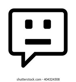 Chatbot / chat bot or chatterbot line art vector icon for message apps and websites