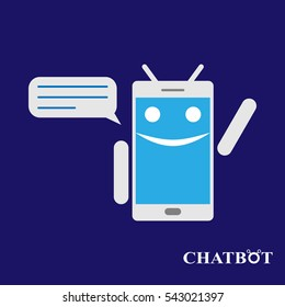 Chatbot or chatterbot vector illustration