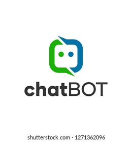 ChatBot Chatting Logo Concept
