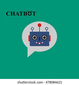 Chatbot icon concept, chat bot or chatterbot