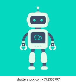 Chatbot icon concept. Robot sign design. Modern flat style bot symbol. Future machine bot. Vector modern character illustration isolated on trendy background