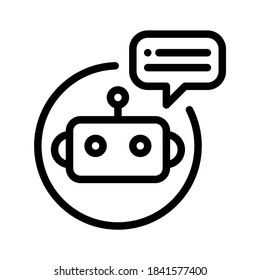 Chatbot icon. Line vector. Isolate on white background.