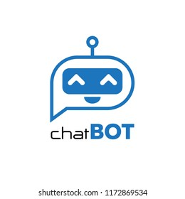 Chatbot icon. Chatbot logo concept.Voice support service chat bot,virtual online help customer support.Vector illustration in flat style.