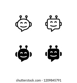 Chatbot Icon Logo Vector Symbol. Robot Icon