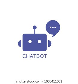 Chatbot icon. Vector, illustration, isolate on white background.