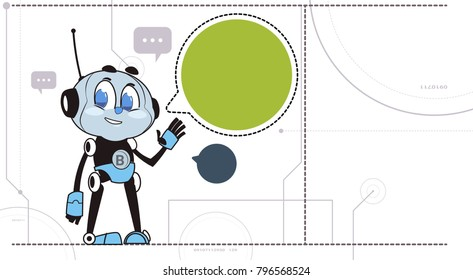 Chatbot Robot Support Technology Chatter Bot In Headphones Virtual Assistance Concept Vector Illustration