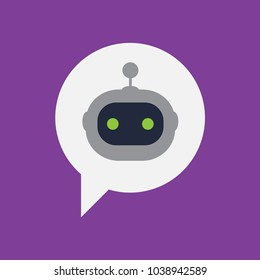 Chatbot, vector icon.