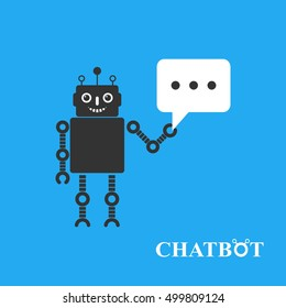 Chatbot vector illustration, chat bot or chatterbot
