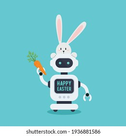 Chatbot in vector illustration. Future machine robot. Flat style design