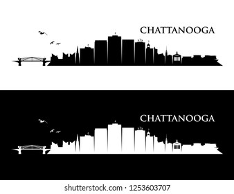 Chattanooga skyline - Tennessee, United States of America, USA - vector illustration