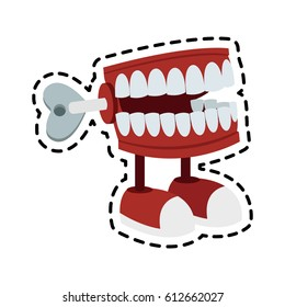 chattering teeth wind up toy icon image