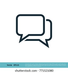 Chatting, Dialog, Discuss Speech Bubble Icon Vector Logo Template